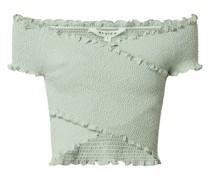 Cropped Shirt in Wickel-Optik
