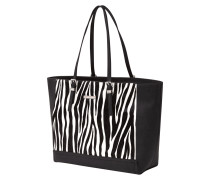 Shopper mit Besatz in Zebraoptik