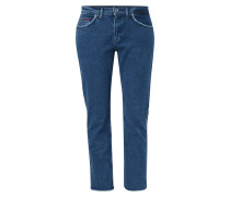 Straight Fit Jeans mit Fransenbesatz