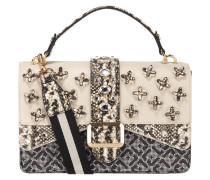 Handtasche mit Mustermix und Ziersteinen