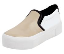 Slip On Sneaker aus echtem Schafleder
