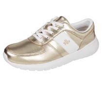 Sneaker aus Leder in Metallicoptik