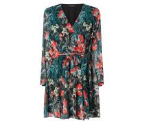 Kleid aus Chiffon mit Taillengürtel