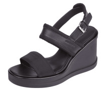 Sandaletten mit Besatz aus echtem Leder