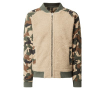 Wende-Bomber mit Camouflage-Muster