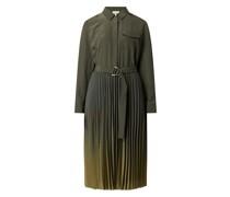 Blusenkleid aus Krepp mit Taillengürtel