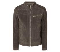 Biker-Jacke aus Veloursleder