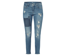 Skinny Fit Jeans im Destroyed & Repaired Look