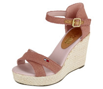 Wedges aus Canvas mit Keilabsatz in Flechtoptik
