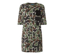 Longshirt mit Camouflage-Muster