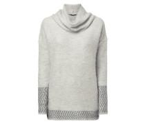 Pullover mit breitem Rollkragen