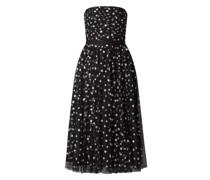 Corsagenkleid aus Mesh mit Glitter-Effekt
