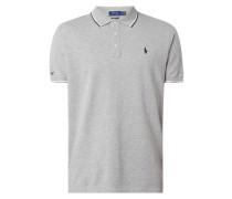 Slim Fit Poloshirt mit Zierstreifen