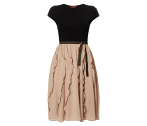 Two-Tone-Kleid mit Volants