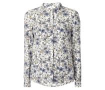Hemdbluse mit floralem Muster