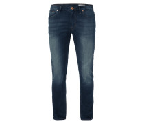 Slim Fit 5-Pocket-Jeans im Stone Washed Look