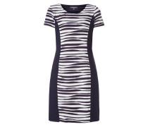 Kleid mit Streifenmuster und Zierstreifen