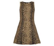 Kleid mit stilisiertem Leopardenmuster