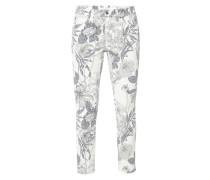 Slim Fit Jeans mit floralem Muster