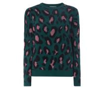 Pullover mit Leopardenmuster und Effektgarn