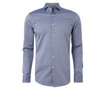 Slim Fit Business-Hemd aus reiner Baumwolle
