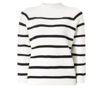Pullover im Waffelstrick mit Streifenmuster
