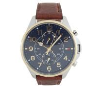 Uhr mit Lünette aus Gold