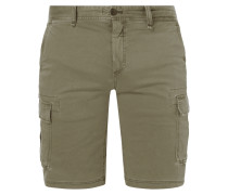 Straight Fit Cargobermudas mit Stretch-Anteil