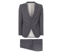 Anzug mit 2-Knopf-Sakko und Gitterkaro