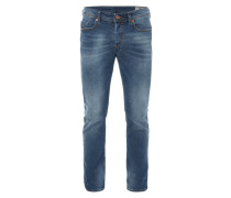 Stone Washed Slim-Tapered Fit Jeans