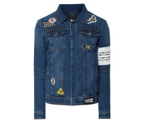 Jeansjacke mit Kontrastaufnäher Modell 'Be Dusty'