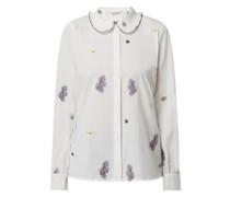 Bluse mit floralen Stickereien Modell 'Love'