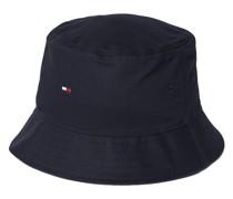 Bucket Hat aus Baumwolle mit Logo-Stitching