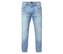 Double Stone Washed Slim Tapered Fit Jeans