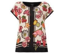 Shirt aus Seide mit Obst-Print