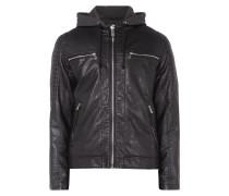 Biker-Jacke mit Kontrastblende