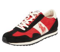 Sneaker mit Lederbesatz