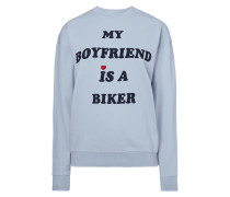 Sweatshirt mit Message-Print
