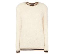 Pullover mit gerippten Kontrastabschlüssen