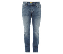 Double Stone Washed Regular Fit Jeans