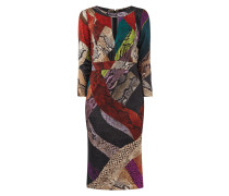 Kleid mit Schlangenmuster und Aussparung
