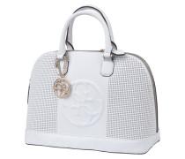 Handtasche 'AMY' mit Lochmuster und Logo-Prägung