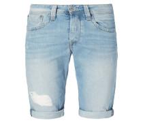 Regular Fit Jeansshorts im Destroyed Look