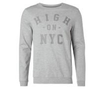 Leichtes Sweatshirt mit Print - meliert