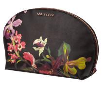 Kosmetiktasche mit floralem Muster