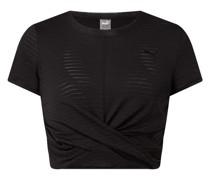 Cropped T-Shirt mit Viskose-Anteil