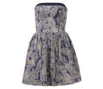 Bandeau-Kleid mit Muster und Raffungen