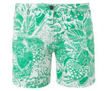 Shorts aus Leinen mit exotischem Muster