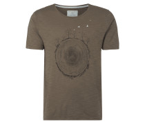 T-Shirt mit Baumstamm-Print