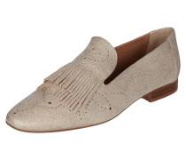 Loafer aus Leder in Metallicoptik